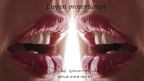 Ästhetische Lippenproportionen